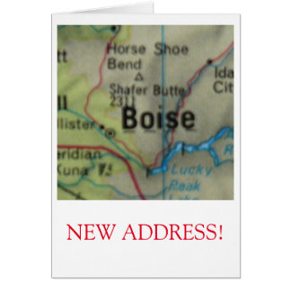 Boise New Address announcement