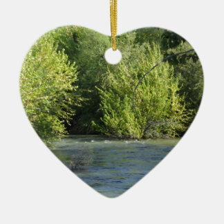 Boise River Ceramic Ornament