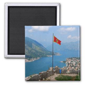 Boka Kotorska in Montenegro Square Magnet