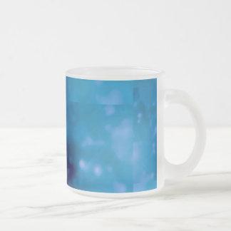 Bokeh 01 blue coffee mug