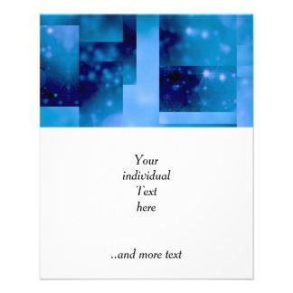 Bokeh 01 blue full color flyer