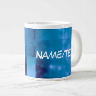 Bokeh 01 blue jumbo mugs