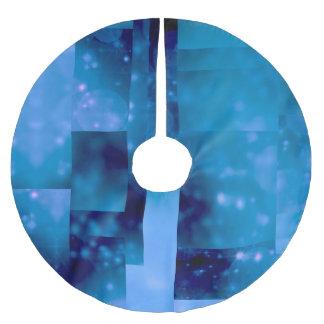 Bokeh 01,blue brushed polyester tree skirt