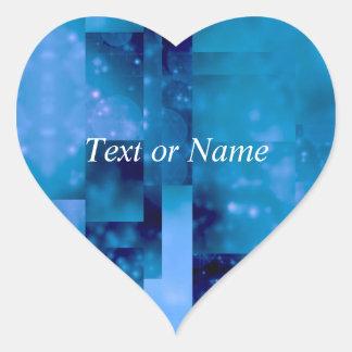 Bokeh 01,blue heart sticker