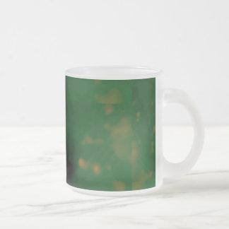 Bokeh 01 green coffee mug