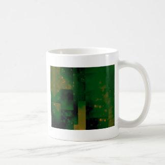 Bokeh 01 green coffee mugs