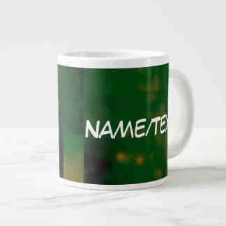 Bokeh 01 green extra large mug