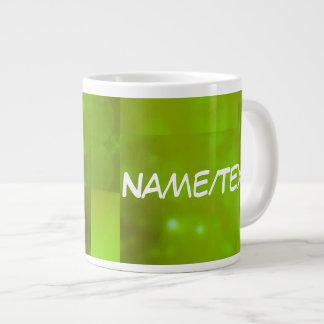 Bokeh 01 neon jumbo mug