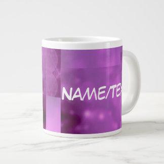 Bokeh 01 pink extra large mugs