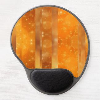 Bokeh 02 golden gel mouse mat