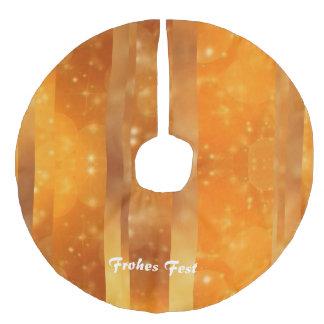 Bokeh 02 golden faux linen tree skirt