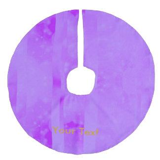 Bokeh 02 soft  lilac faux linen tree skirt