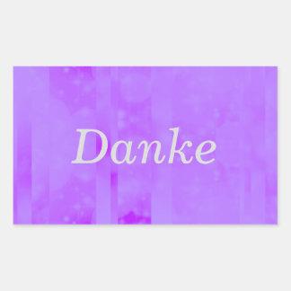 Bokeh 02 soft  lilac rectangle sticker