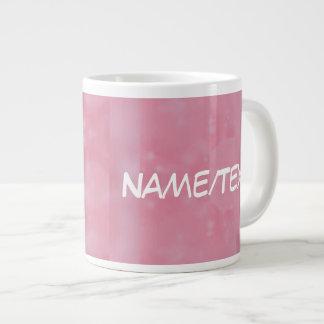 Bokeh 02 soft pink extra large mug