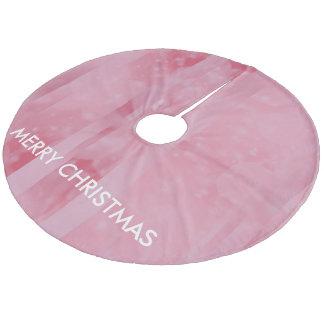 Bokeh 02 soft  pink fleece tree skirt
