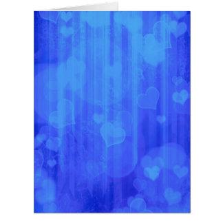 bokeh 04 hearts blue I Cards