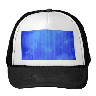 Bokeh 04 hearts blue I Trucker Hats