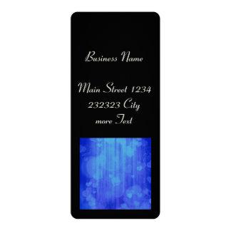 bokeh 04 hearts, blue (I) 10 Cm X 24 Cm Invitation Card