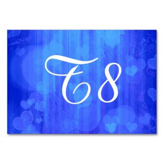 bokeh 04 hearts blue I Table Card