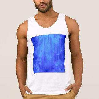 bokeh 04 hearts blue I Tank Tops
