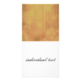 bokeh 04 hearts golden I Personalized Photo Card