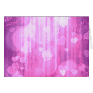 Bokeh 04 hearts pink I Card