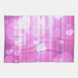 Bokeh 04 hearts pink I Kitchen Towels