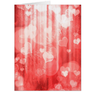 bokeh 04 hearts red I Cards