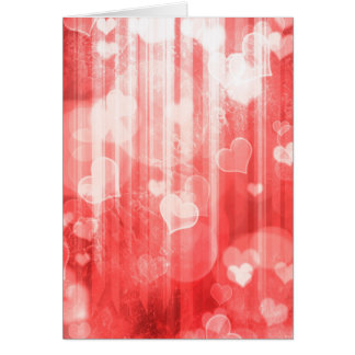 Bokeh 04 hearts red I Greeting Card