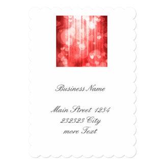 bokeh 04 hearts, red (I) 13 Cm X 18 Cm Invitation Card