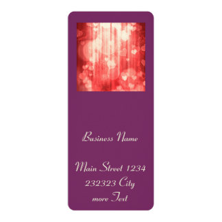 bokeh 04 hearts, red (I) 10 Cm X 24 Cm Invitation Card