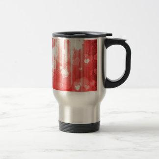 Bokeh 04 hearts red I Mug