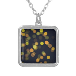 bokeh #72 silver plated necklace