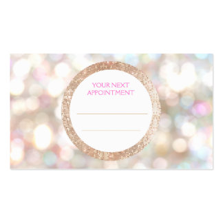 Bokeh and Rose Gold Sequin Hair Salon Appointment Pack Of Standard Business Cards