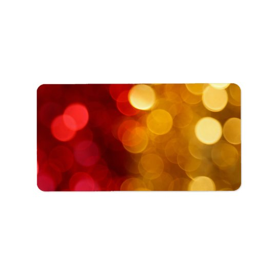 Bokeh Art Address Label