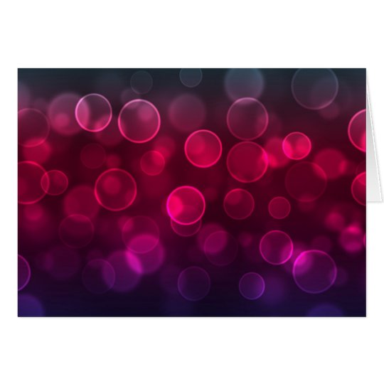 Bokeh Art Card
