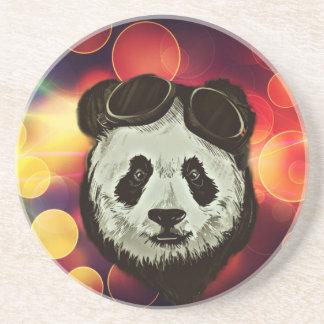 Bokeh Art with Panda Beverage Coasters