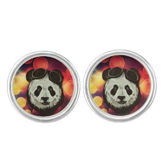 Bokeh Art with Panda Cuff Links
