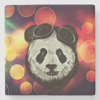 Bokeh Art with Panda Stone Coaster