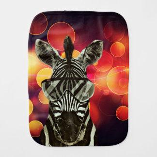 Bokeh Art with Zebra Style Baby Burp Cloths