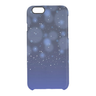 Bokeh Blue Abstract Starry Sky Clear iPhone 6/6S Case