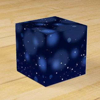Bokeh Blue Abstract Starry Sky Favour Box