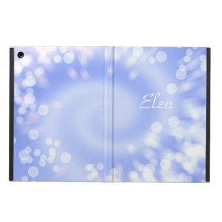 Bokeh blue abstract texture. Name. iPad Air Cover