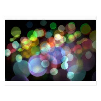 Bokeh Blurred Background Lights Postcard