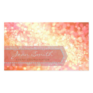 Bokeh Bold Gold Pack Of Standard Business Cards