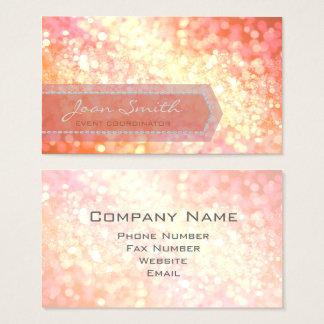 Bokeh Bold Gold ID317 Business Card