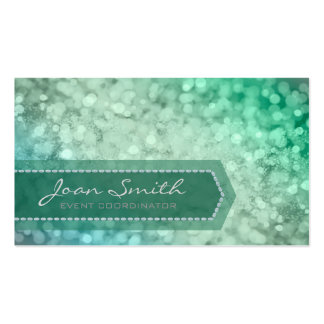 Bokeh Bold Green Pack Of Standard Business Cards
