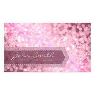 Bokeh Bold Pink Pack Of Standard Business Cards