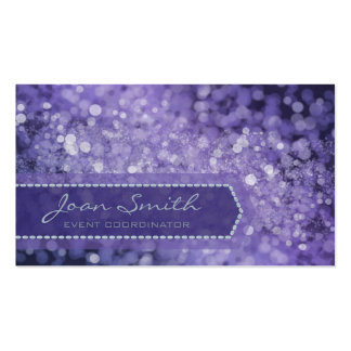 Bokeh Bold Purple Pack Of Standard Business Cards