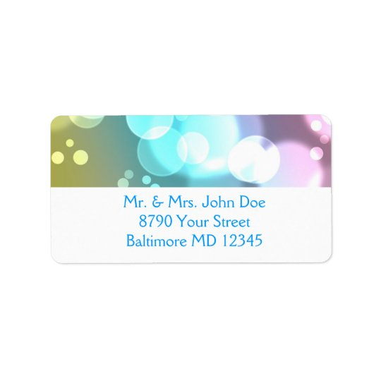 Bokeh Bubbles address label